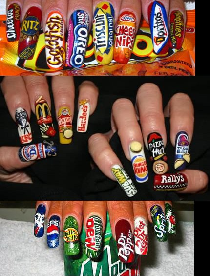 Creative And Sexi Food Nail Designs